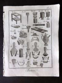 Diderot 1780's Antique Print. Chimie 13 Chemistry